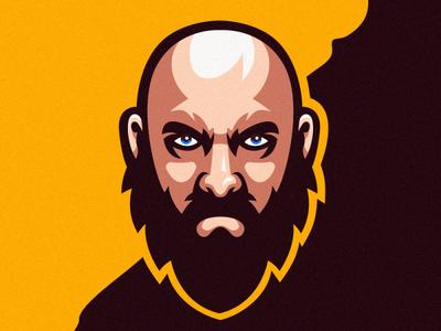 man beard logo ilustrator coreldraw forsale logo good branding brand sports design sports logo esport mascot newlogo bestlogo logos barber logo barber beard
