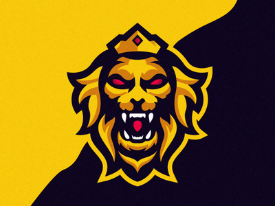 Lion King Logo Design junggle lionbest lion head coreldraw e-sport good lion king lion logo free team best aninam lions esport logo esport lion nice logo