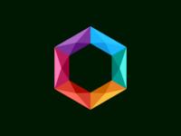 colorful polygon design