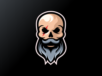 Beard logo branding ui vector corel coreldraw ilustrator logo nice good e-sport forsale sport gaming logo gaming beard