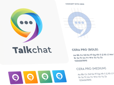 talk chat logo design