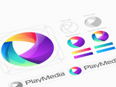 play media logo design