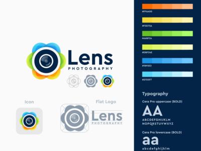 Lens logo design