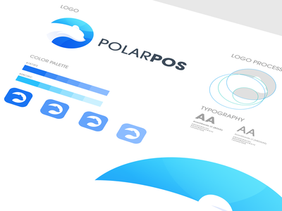 logo concept for polarpos ux branding vector corel polar bear ilustrator coreldraw logo forsale nice good polar