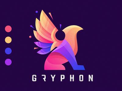 Gryphon ux app awesome ui ai illustrator great branding illustration corel vector sport gryphon ilustrator coreldraw forsale good nice logo