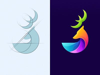 deer logo design team sport sportlogo design coreldraw forsale good for sale logos dribbble tech logo deer deer logo