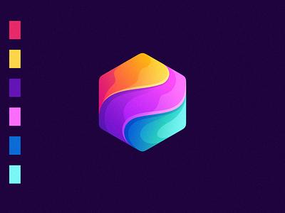 colorful logo design application app logo app e-sport sport design ilustrator coreldraw forsale nice good logo
