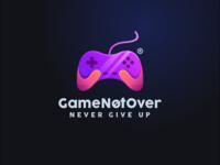 GameNotover logo design