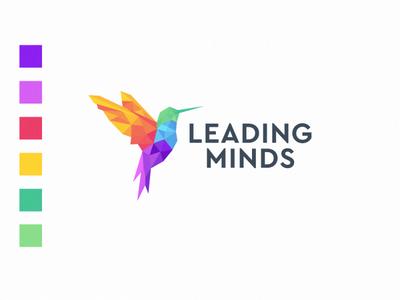 leading minds logo design