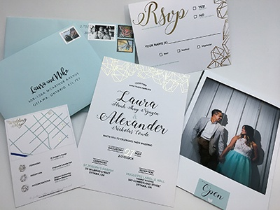 Stationary - Wedding invitations