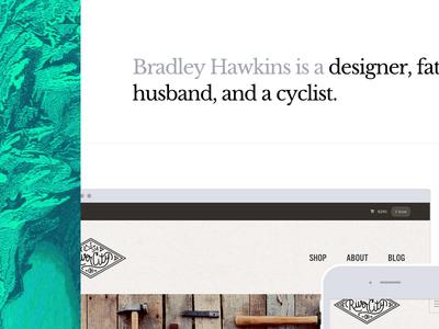 Portfolio Refresh design portfolio ui web design typography jekyll texture