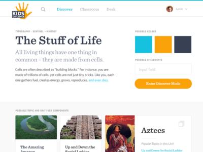 Kids Discover - Style Tile 1 design web design cards style tiles style tile ui