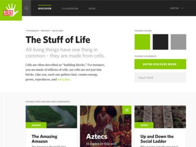 Kids Discover - Style Tile 3 design web design cards style tiles style tile ui