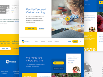 CCA / Website Homepage interface gotham yellow charter school tiles homepage website ui