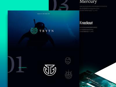 Behance Case Study for Trytn branding identity ux ui