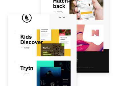 2018 Portfolio Refresh geometric layout branding design website portfolio ux ui web