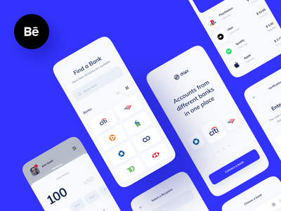 Dapi – Banking API chart ux design banks transfer app mobile payment interface banking case study behance ui ux finance fintech bank app