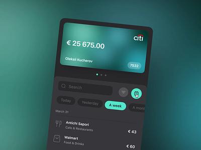 Transactions Filter for Money Manager App after effect motion filter calendar ux ui ux design movement animation bank card credit card glow fintech transactions finance bank web app banking