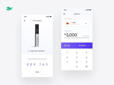 Crypto banking app ux  ui converter bank app fintech app token ui bitcoin interface banking mobile ux design banking app wallet exchange crypto currency