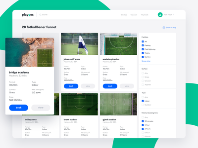 Search results page logo ux design sport app coach booking app book admin panel web app calendar search filter catalog football schedule booking mobile ui ux
