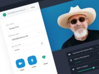 Home screen – video call app
