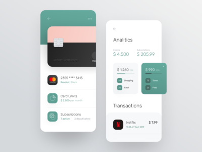 Card details for banking app