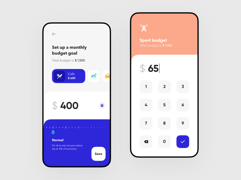 Budget goals setup for Banking app product design payment ux design ui ux statistics spendings mobile interface fintech finance app filter clean design business bar chart banking app banking bank card bank app