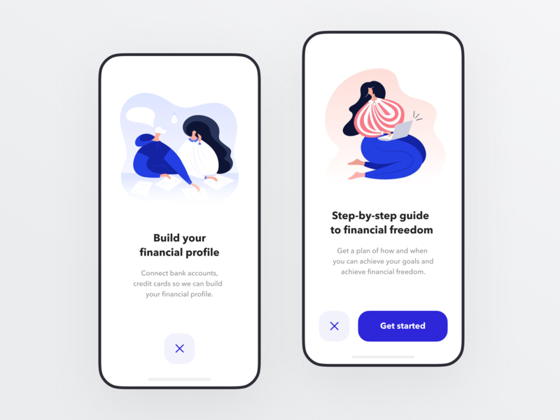 Onboarding for Banking app person character app illustration cartoon mobile ux ui onboarding interface banking fintech finance app bank app bank