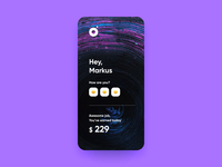 Welcome page for Booking app