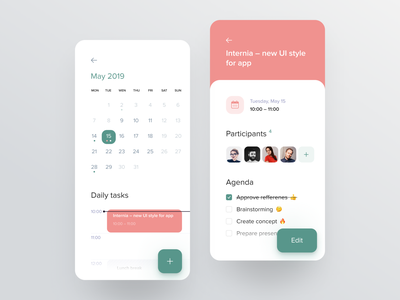 Meeting Screen for Booking App task management tasks meetup agenda meeting calendar interface ux design ui ux management schedule mobile search app uxui product product design planning