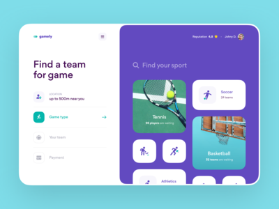 Find a Team for Sport Game – Web Service