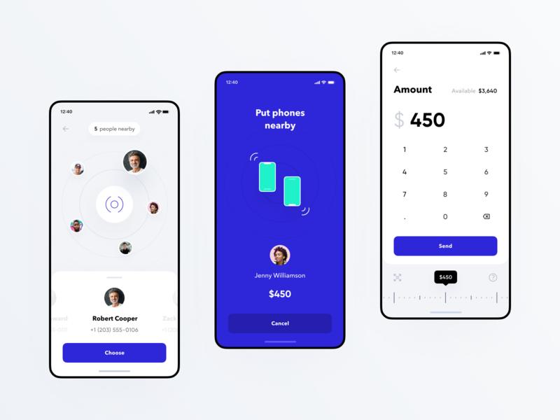 NFC Money Transfer for Banking app app money transfer ux design ui ux statistics spendings mobile interface fintech finance app filter business bar chart banking app banking bank card bank app payment