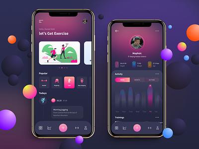 2020 Fitness App uxdesign figma
