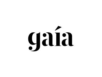 Gaía, unused concept simple icon branding identity