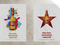 posters for spanish beer brand