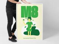 M8, International Women's Day Poster