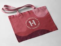 Spanish bar tapas identity tote bag