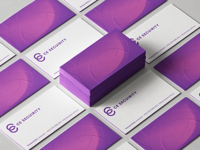 An video surveillance company C & E business cards typography design logo simple identity branding