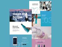 Landing page for smart bottles