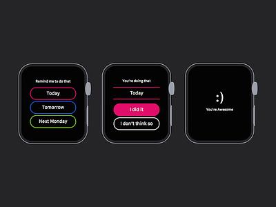 'That' on Apple Watch minimal simple clean mobile app iphone ios reminders todo watch apple that