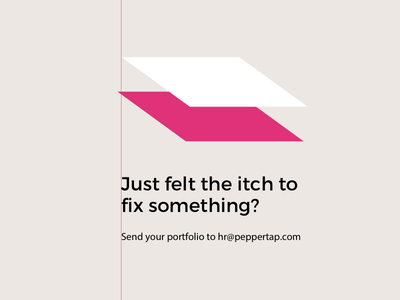 Scratching The Itch inspire evoke peppertap designer visual minimal clean ad job
