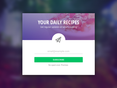 Newsletter Signup Card recipes clean material emails signup card form newsletter