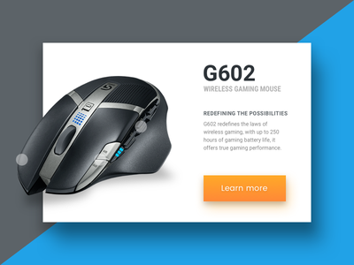Product Detail Card - Sketch Freebie freebie sketch gaming mouse g602 logitech cta detail card product