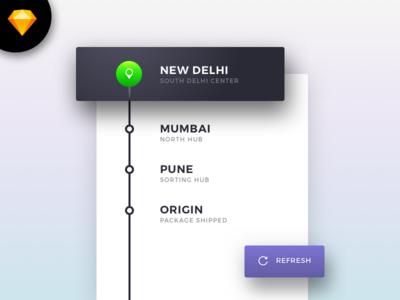 Sketch Freebie: Minimal Tracking Details Card