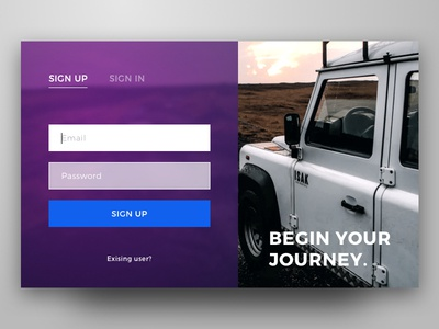Sign Up Card