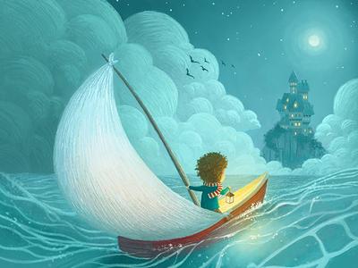 Magical Castle childrens illustration castle kids illustration seascape drawing kidlitart childrens book illustration illustration