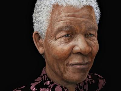 Nelson Mandela - from my 3D model