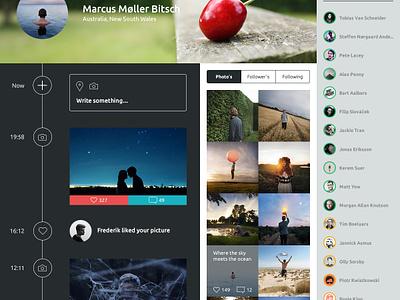 Flash iOS7 profile flash denmark webdesign ui interface ios social profile icon ios 7 timeline