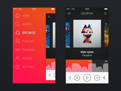 Music 7 ui app music ios playlist web icon denmark play