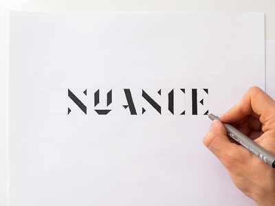 Hand drawn logotype NUANCE branding logo sketch hand drawn drawing lettering typography sketch